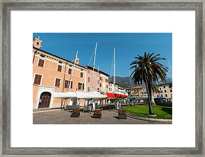 Bogliaco, Lago Di Garda, Lombardia Framed Print by Sergio Pitamitz