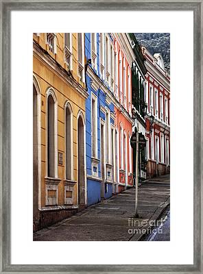 Bogota Colors Framed Print by John Rizzuto