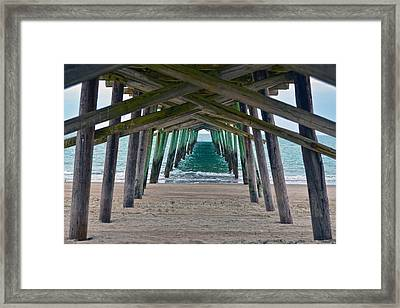 Bogue Banks Fishing Pier Framed Print by Sandi OReilly