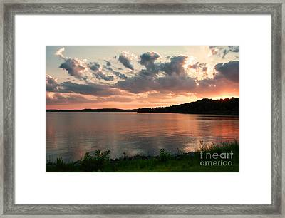 Framed Print featuring the photograph Bohemia River Sunset In Maryland by Polly Peacock