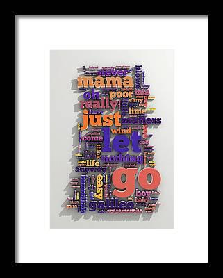 Cloud Type Framed Prints