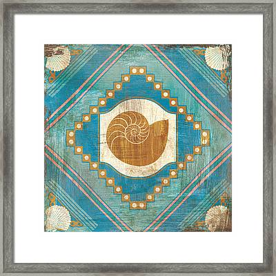Bohemian Sea Tiles V Framed Print