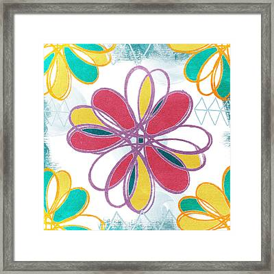 Boho Floral 2 Framed Print by Linda Woods