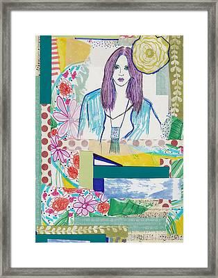 Boho Flower Girl Framed Print