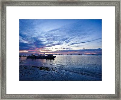 Bohol Sunrise Framed Print