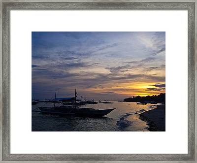 Bohol Sunset Framed Print