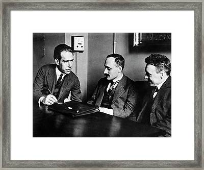 Bohr Framed Print by Aip Emilio Segre Visual Archives, Margrethe Bohr Collection, Fermi Film Collection