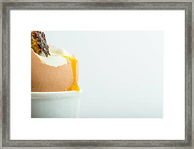 Boiled Egg With Toast. Framed Print