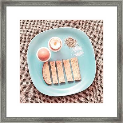 Boiled Eggs Framed Print by Tom Gowanlock
