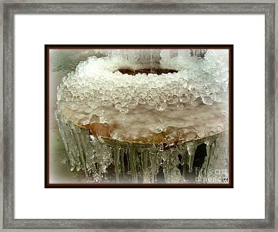 Boiling Ice Framed Print
