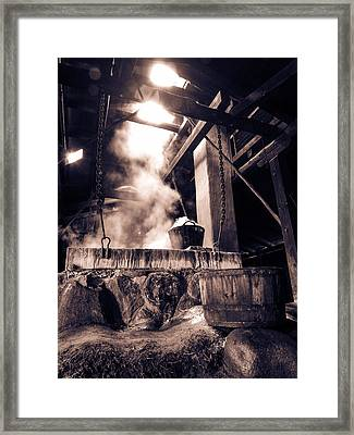 Boiling Point In Bw Framed Print