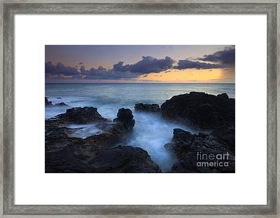 Boiling Sea Framed Print by Mike  Dawson
