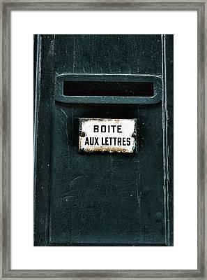Boite Aux Lettres Framed Print by Georgia Fowler