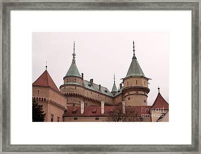 Framed Print featuring the photograph Bojnice Castle by Les Palenik