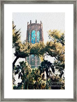 Bok Singing Canopy Tower Framed Print by Ecinja Art Works