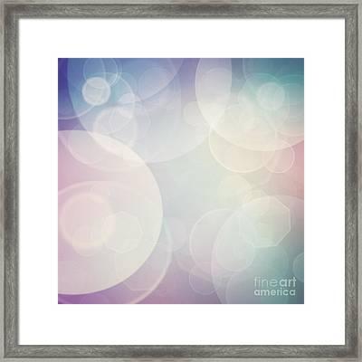 Bokeh Background Framed Print by Mythja  Photography