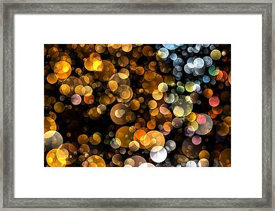 Bokeh Modern Decorative Design I Framed Print