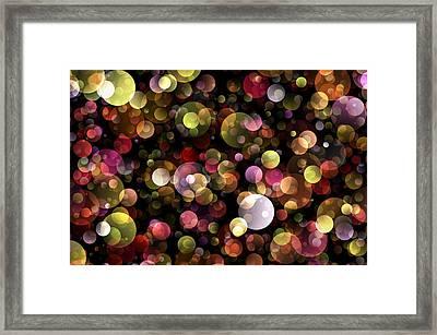 Bokeh Modern Decorative Design Iv Framed Print