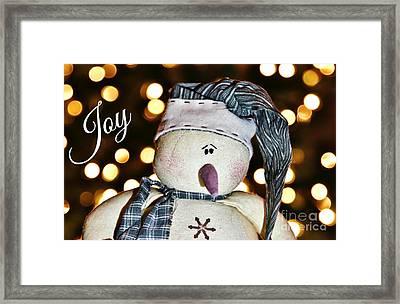Bokeh Snowman Card Framed Print