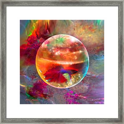 Framed Print featuring the painting Bol De Monet' by Robin Moline