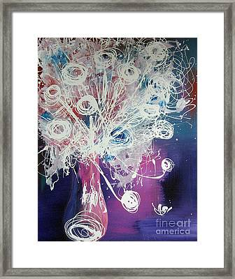 Bold Abstract By Shawna Erback Flower Study Framed Print by Shawna Erback