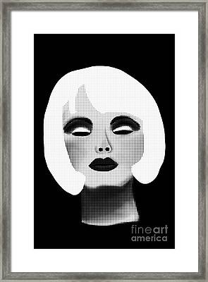 Bold Blonde Beauty Framed Print