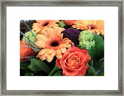 Bold Bouquet Framed Print by Gerry Bates