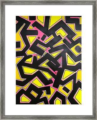Bold Geometric Framed Print by Bill Solley