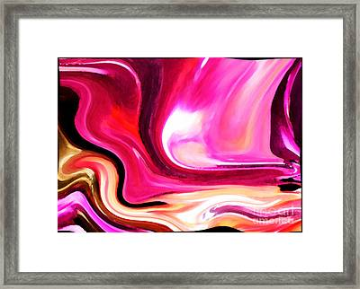 Bold Pink Abstract Framed Print by Carol Groenen