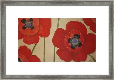 Bold Poppies Framed Print by Cindy Micklos