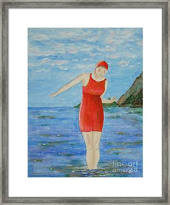 Bold Red Framed Print