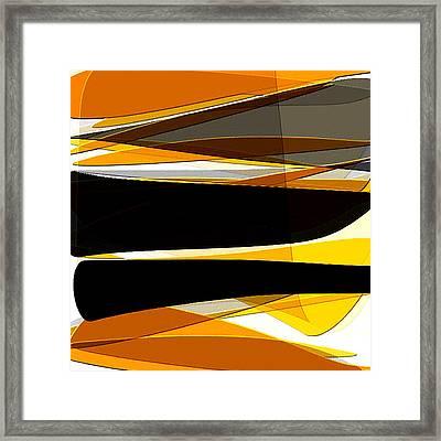 Bold- Yellow Orange Black And Gray Art Framed Print