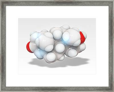 Boldenone Anabolic Steroid Molecule Framed Print
