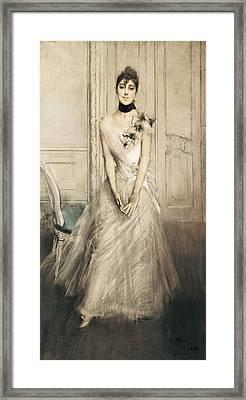 Boldini, Giovanni 1842-1931. Portrait Framed Print