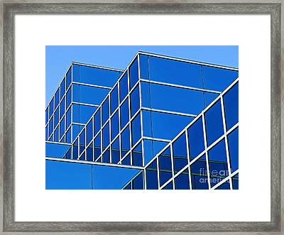 Framed Print featuring the photograph Boldly Blue by Ann Horn