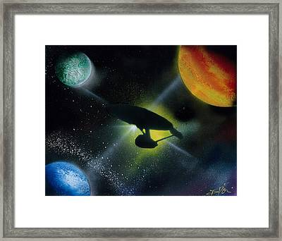 Boldly Go Framed Print by Thomas DOrsi
