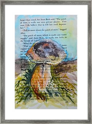 Boletus Edulis Framed Print by Beverley Harper Tinsley