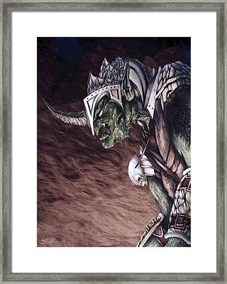 Framed Print featuring the mixed media Bolg The Goblin King 2 by Curtiss Shaffer