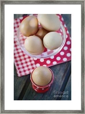 Bolied Eggs  Framed Print by Mythja  Photography