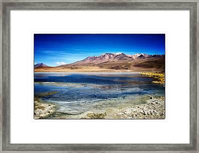 Bolivia Desert Lake Framed Framed Print by For Ninety One Days