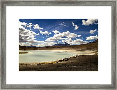 Bolivia Lagoon Clouds Framed Print by For Ninety One Days