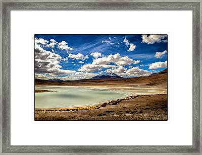 Bolivia Lagoon Clouds Framed Framed Print by For Ninety One Days