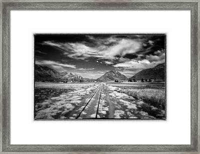 Bolivia Train Tracks Black And White Framed Print by For Ninety One Days