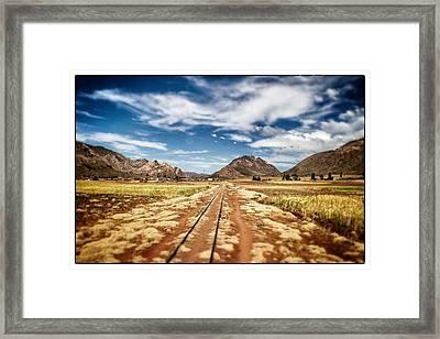 Bolivia Train Tracks Framed Print by For Ninety One Days
