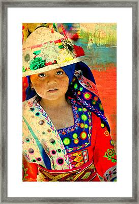 Bolivian Child Framed Print by Diana Angstadt