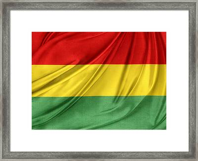 Bolivian Flag Framed Print by Les Cunliffe