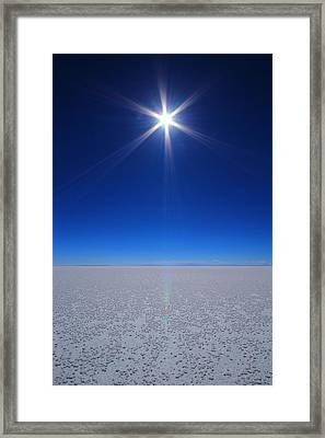 Bolivian Salt Framed Print