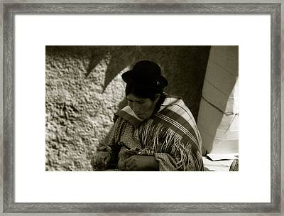 Framed Print featuring the photograph Bolivian Woman by Amarildo Correa