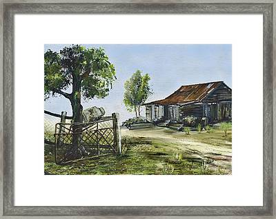 Bollier Shed And Gate Framed Print by Lynne Wilson