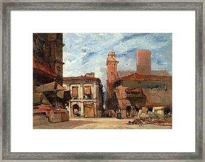Bologna, Unknown Artist, 19th Century Framed Print by Litz Collection